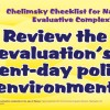 Chelminsky Checklist - Review the Evaluation