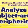 Chelminsky Checklist - Analyze Subject Area