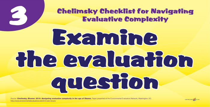 Chelminsky Checklist - Examine the Evaluation