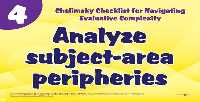 Chelminsky Checklist - Analyze Subject Area